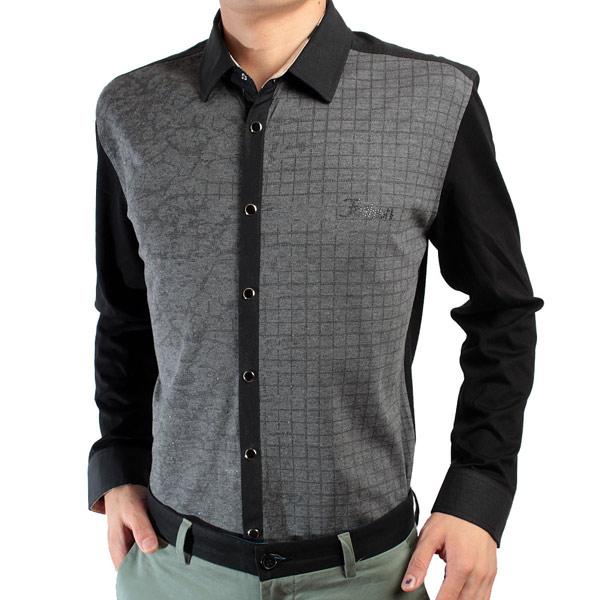 红杉树男士长袖衬衫A系撞色款