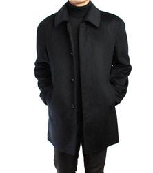 红杉树羊绒羊毛面料翻领商务风衣